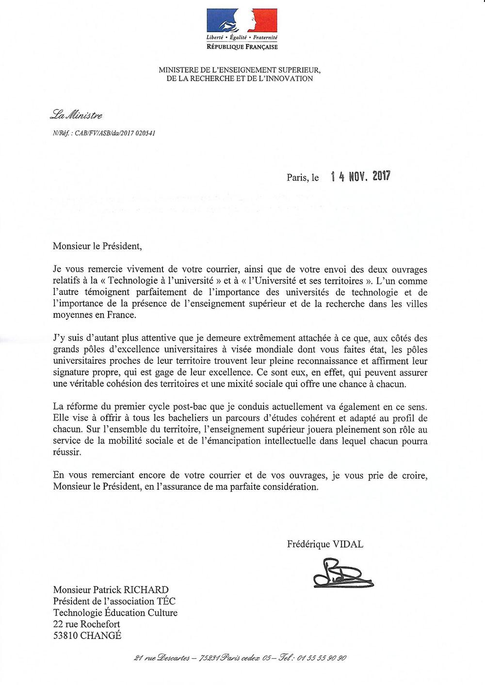 NPDS   Page Spéciale pour impression / Réponse de Frédérique VIDAL